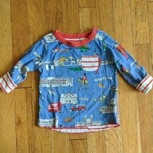 Baby Boden London themed reversible long sleeve
